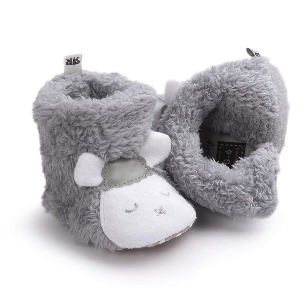 LACOFIA Baby Boys Girls Soft Sole Winter Warm Boots Infant Crib Shoes