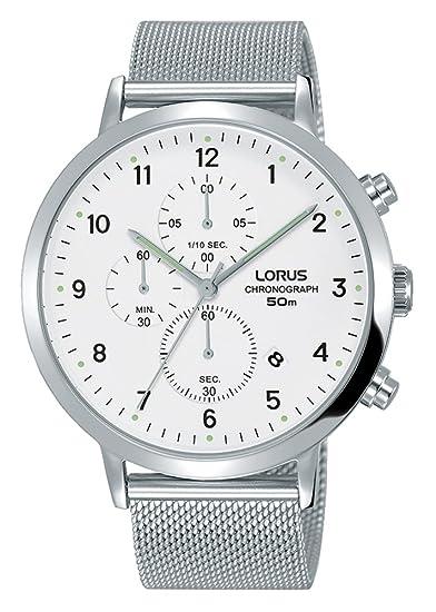 Lorus Reloj Cronógrafo para Hombre de Cuarzo con Correa en Acero Inoxidable RM313EX9: Amazon.es: Relojes