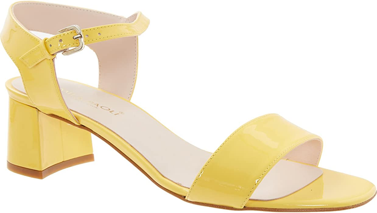 99fe579762e0 Womens Mila Paoli Made In Spain Yellow Leather Two Part Sandals ...