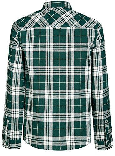 oodji Ultra Mujer Camisa a Cuadros con Bolsillos en el Pecho Verde (6912C)