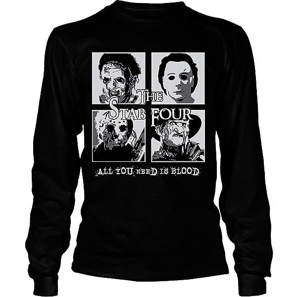 The Stab Four Halloween T Shirt Freddy The Stab Four T Shirt Tees