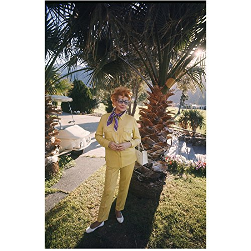 lucille-ball-hanging-out-in-yellow-outfit-smoking-in-palm-springs-8-x-10-photo
