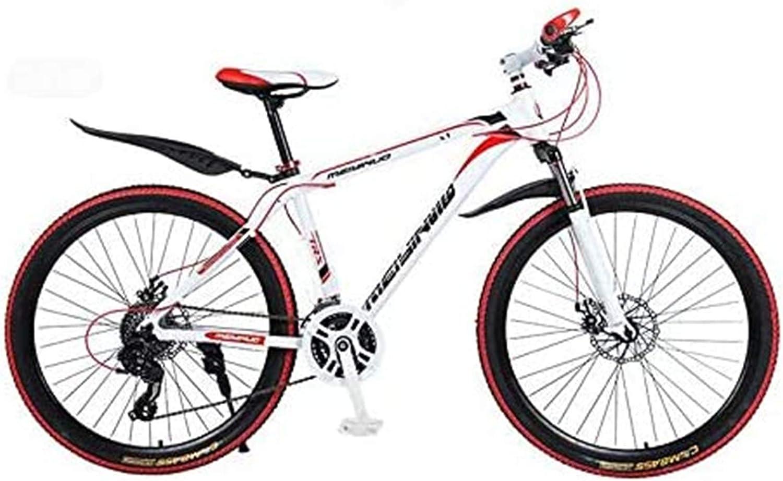 Ligero, Rígida bicicleta de montaña, PVC y todos los pedales de aluminio, marco de acero de alto carbono y aleación de aluminio, doble freno de disco, 26 pulgadas Ruedas Liquidación de inventario