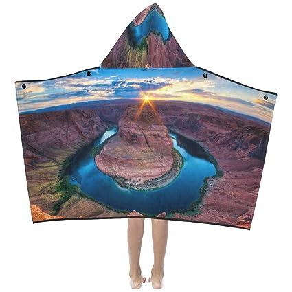 América Gran Cañón Paisaje Suave y cálido Los niños visten Con capucha Manta portátil Toallas baño