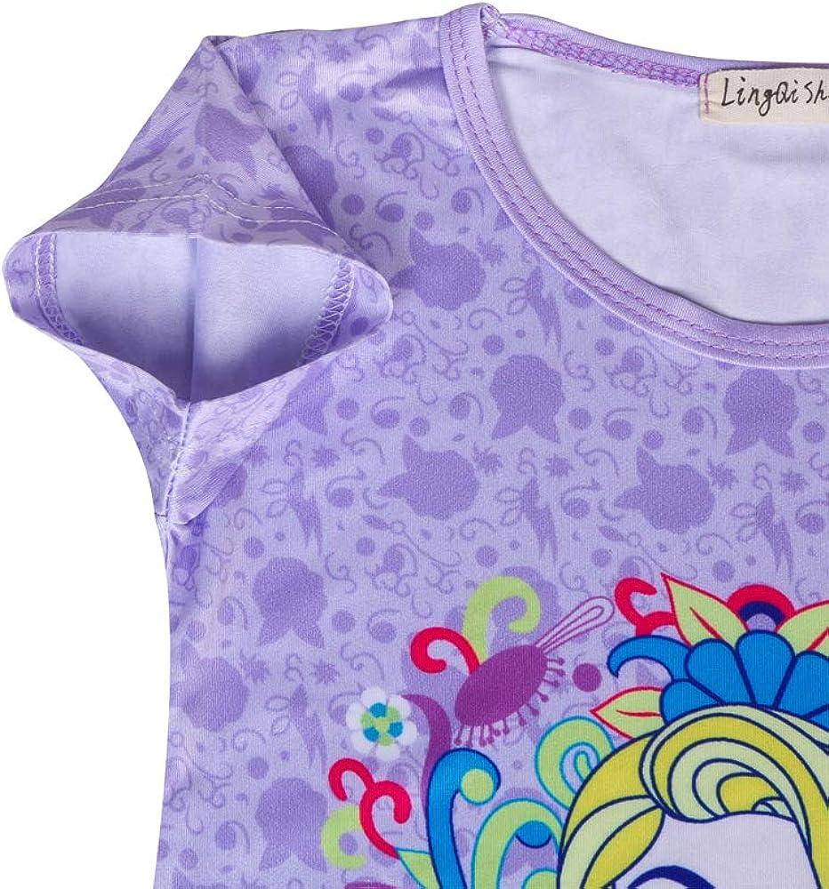 AmzKids Little Girls Princess Nightgowns Toddler Nightdress Rapunzel Kids Pajama Sleepwear Nightie