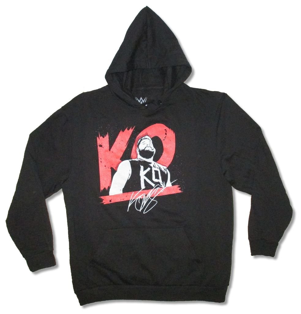 WWE Wrestling KO Signature Kevin Owens Black Sweatshirt Hoodie (S)