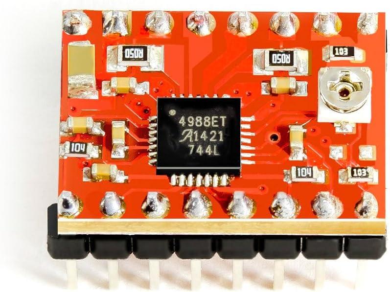 Stepper Motor Motor Paso Conductor A4988 Rojo para Arduino ...