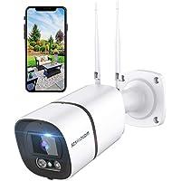 Outdoor Security Camera, 3MP WiFi Surveillance Camera IP Camera IP66 Waterproof 1536P AI Human Detection Work with Alexa…