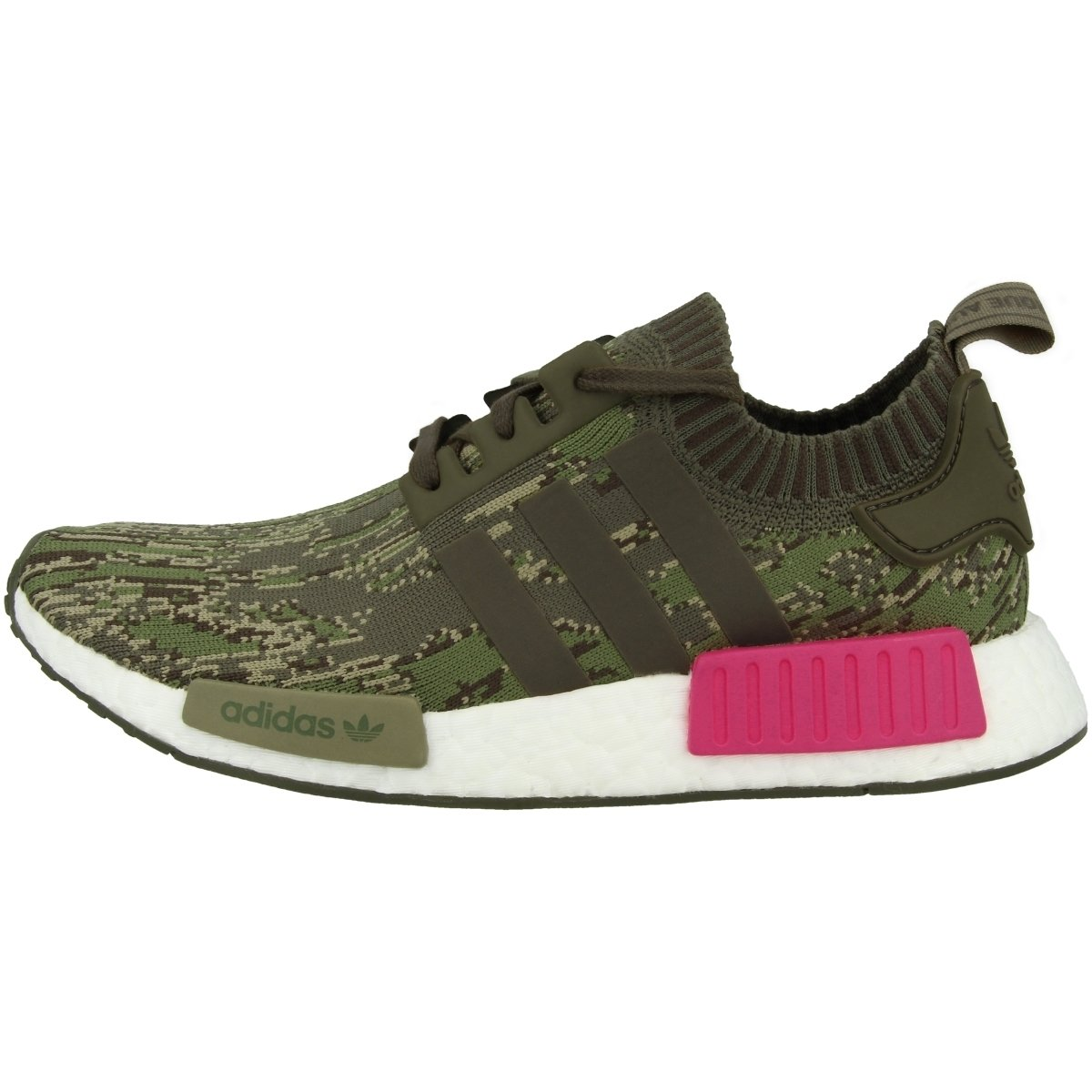 reputable site b8370 2de7d Galleon - Adidas Originals NMDR1 Pk Mens Running Trainers Sneakers Shoes  Prime Knit (UK 9 US 9.5 EU 43 13, Utility Green Pink BZ0222)