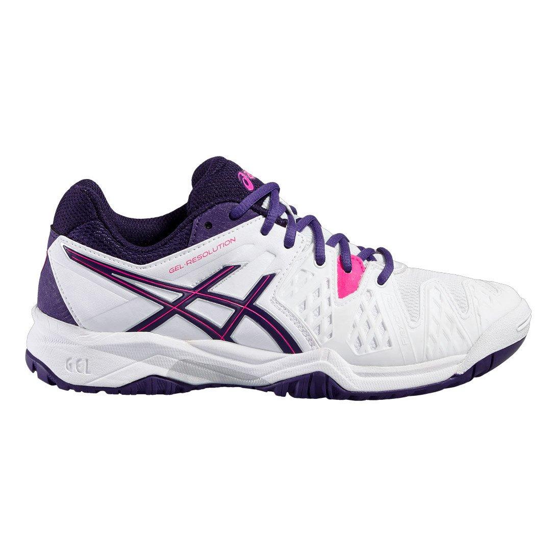 Asics Gel Resolution 6 GS Fille Chaussures Tennis Blanc