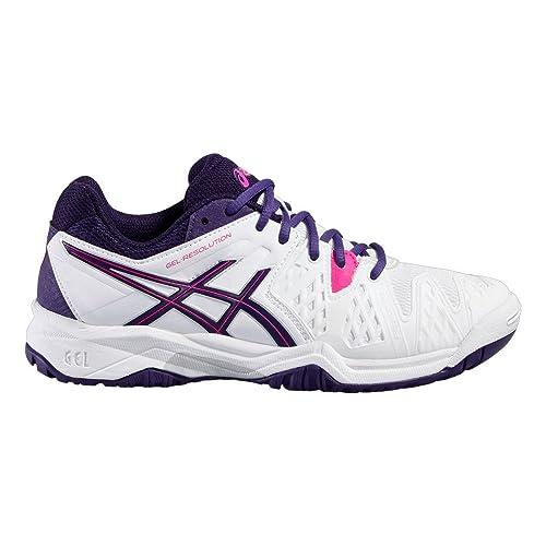 Asics - Zapatillas de Tenis de Piel para niña Blanco Bianco ...