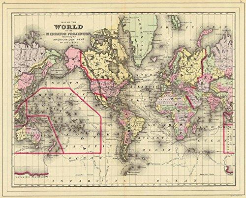 1890 Antique Map - 6