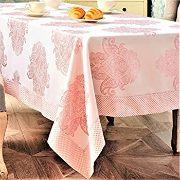 Rose Tablecloth Elegant Polyester Pink Tablecloth Table Linen, Stain  Resistant, Non Iron, Great
