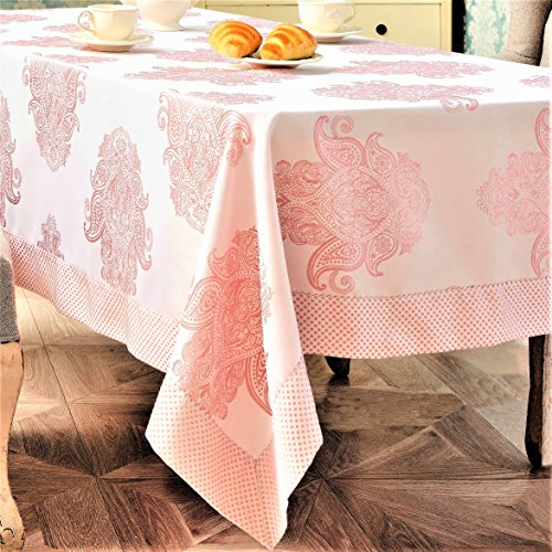 Turkish Linen Large Rectangular Tablecloth (52