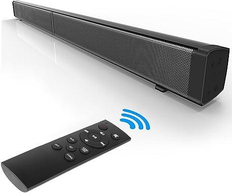 Barra de sonido, 4 x 10W sistemas de cine en casa, TV de muebles para el hogar TV de control remoto de pared U-disk Altavoz Bluetooth para teléfonos inteligentes, tabletas, ipad ect: