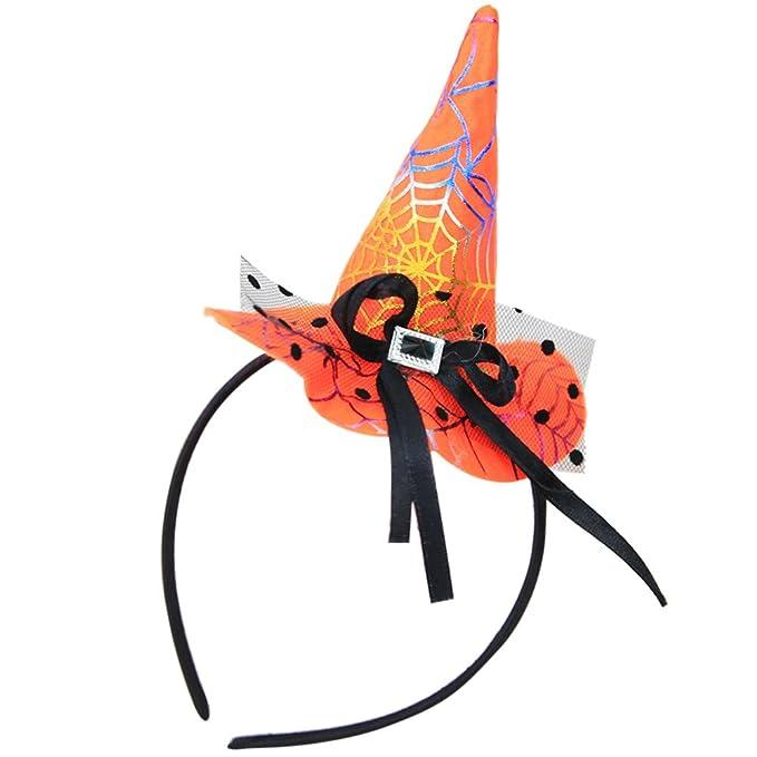 cinnamou Diademas, Sombrero De Bruja De Halloween Diademas ...