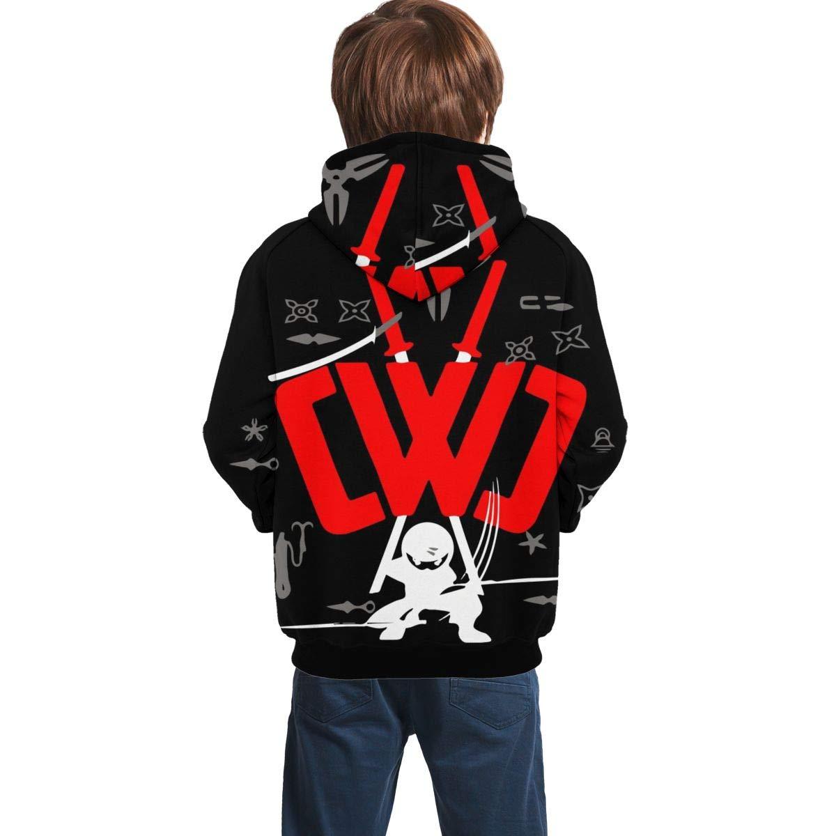 Joancoo Chad Wild Clay Ninja Darts Graphic Pullover Hoodie for Teens Boys Girls