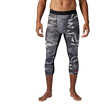 cce958c60 Reebok Men's Spray Camo 3/4 Tights, Black, X-Large: Amazon.co.uk ...
