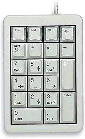 CHERRY G84-4700 Teclado numérico USB Portátil/PC Gris - Teclados numéricos (USB, Portátil/PC, 20 millón de Caracteres, Gris, 1,75 m, c-Tick, UL, VCCI, ...