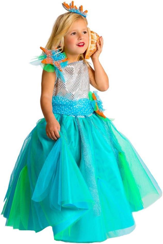 Disfraz de Princesa del Mar para niñas: Amazon.es: Juguetes y juegos