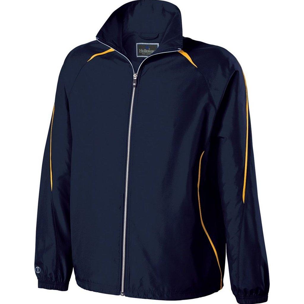 Holloway Youth Invigorate Jacket (Small, Navy/Light Gold) by Holloway