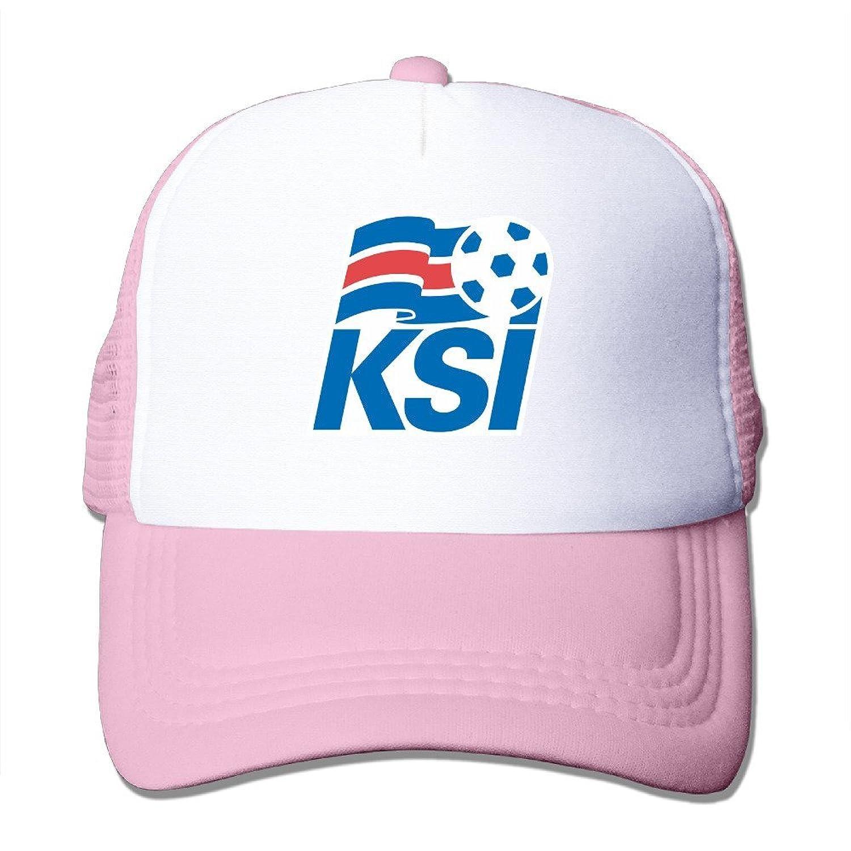 Cool UEFA Euro 2016 Iceland Footabll Logo Adult Nylon Adjustable Mesh Hat Baseball Cap Black One Size Fits Most