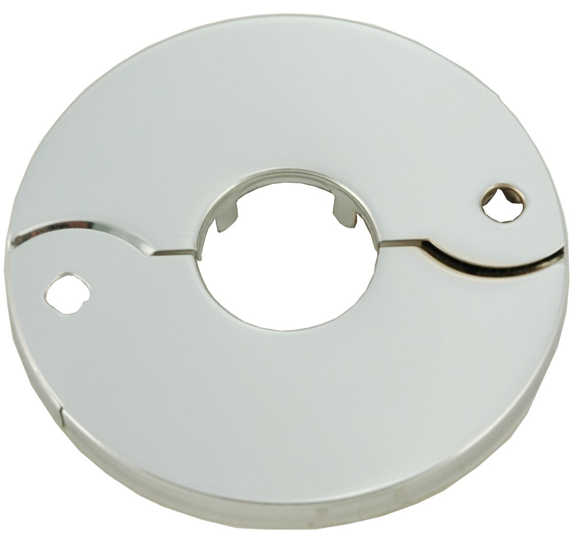 Chrome Plated Floor and Ceiling Split Flange Fits 3/4-Inch Iron Pipe - By PlumbUSA