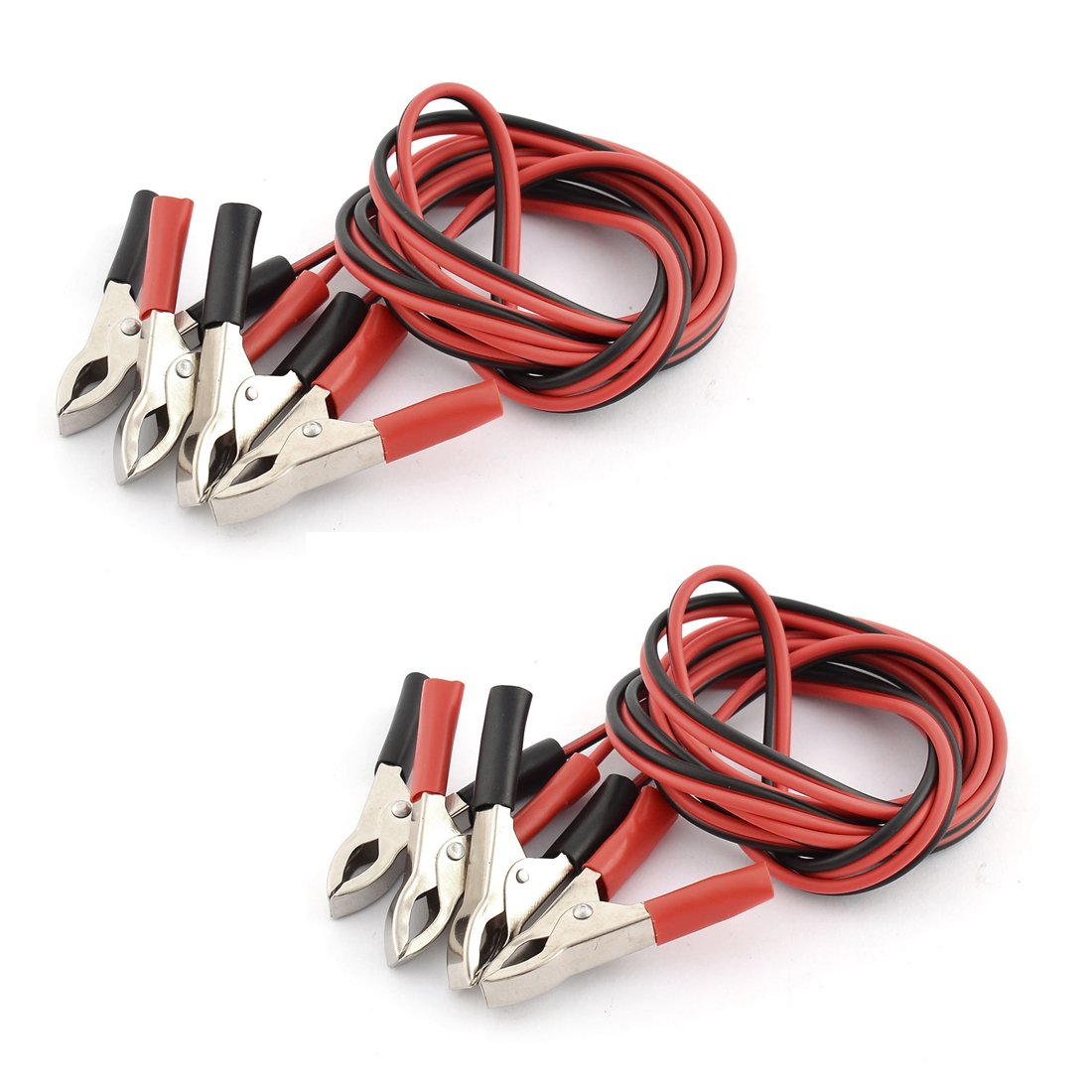 Uxcell a16032800ux0285 5A Alligator Clip Double Wire Battery Test Booster Jumper Cable 1.5M Long 2pcs (Pack of 2)