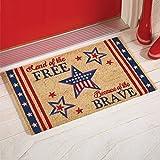 Coir Star Patriotic Americana Rug Patio Welcome Mat 4th of July USA Doormat Decor