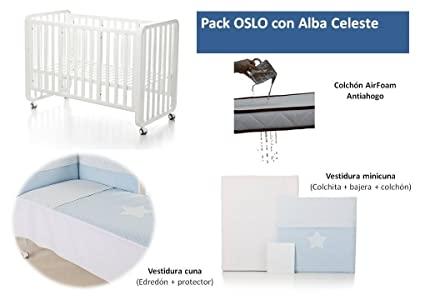 Bolin Bolon Pack Cuna-minicuna colecho OSLO completa ALBA CELESTE