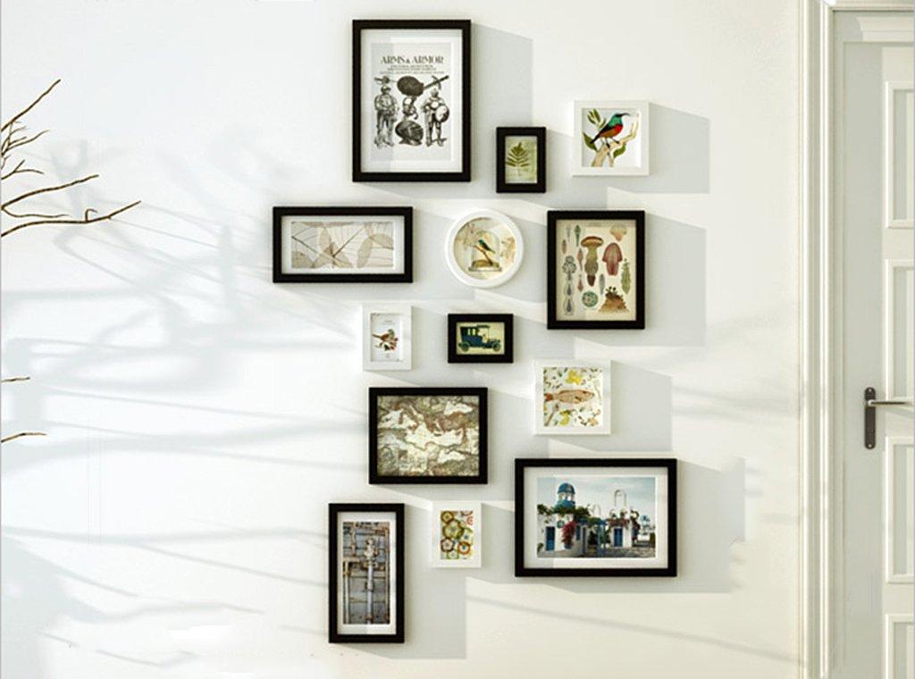 Unbekannt Bilderrahmen-Wand 13 Bilderrahmen-Galerie-Kit Beinhaltet: Rahmen, Wandvorlage, Kunstmalereikern -LI Jing Shop