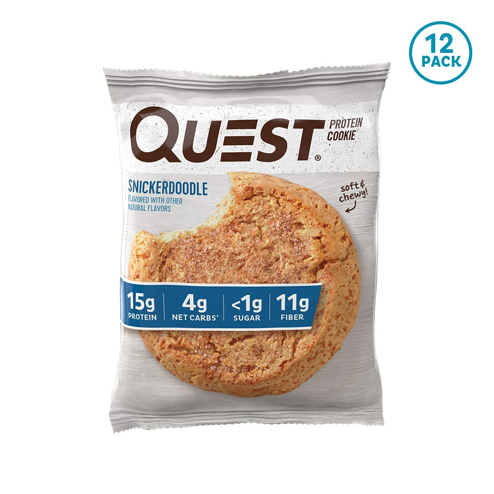 Quest Nutrition Snickerdoodle Protein Cookie, Snickerdoodle, 12 Count