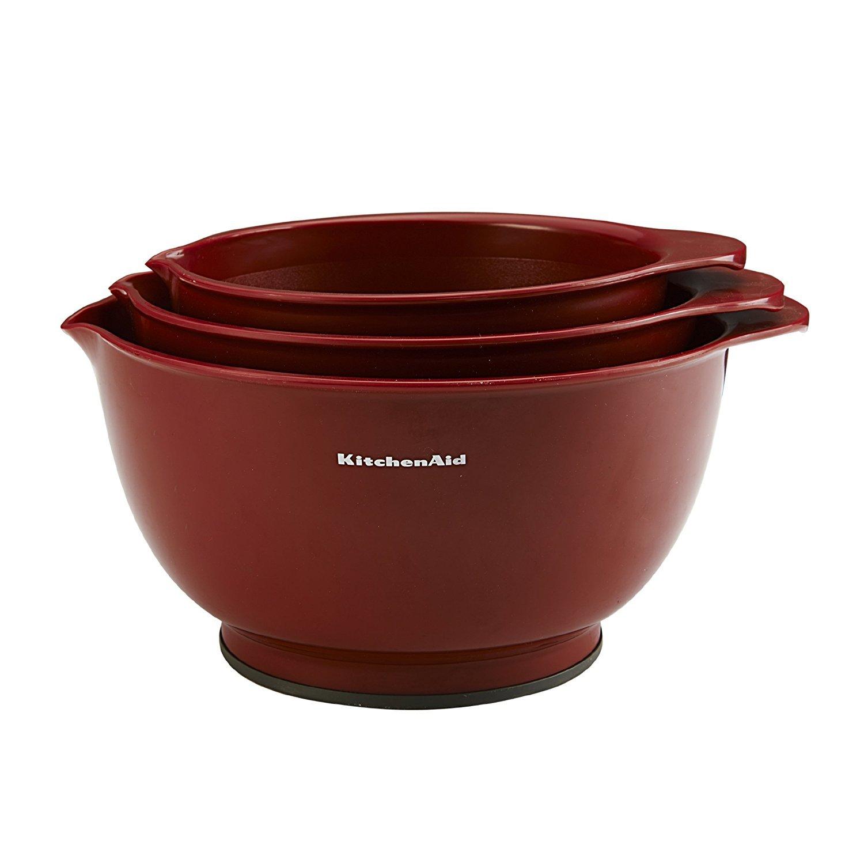 KitchenAid Clic Mixing Bowls (Red, Set of 3): Amazon.ca: Home ... on stoneware mixing bowls, rubbermaid mixing bowls, extra large mixing bowls, anchor hocking mixing bowls, oxo mixing bowls, better homes and gardens mixing bowls, squish mixing bowls, vintage mixing bowls, sunbeam mixing bowls, ge mixing bowls, jenn-air mixing bowls, rachael ray mixing bowls, zak designs mixing bowls, breville mixing bowls, pyrex mixing bowls, kirkland mixing bowls, toy mixing bowls, cuisinart mixing bowls, tefal mixing bowls, winco mixing bowls,