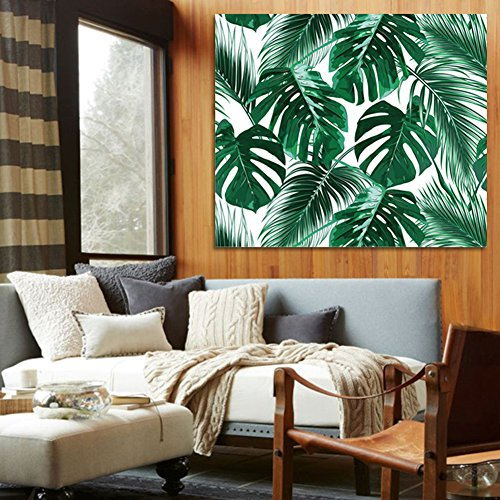 QCWN Tropical Jungle Tapestry Banana Palm Tree Leaf Plants Cactus and Flamingo Themed Print Wall Hanging for Bedroom Living Room Dorm Home Decor Art (2, 59Wx51L)