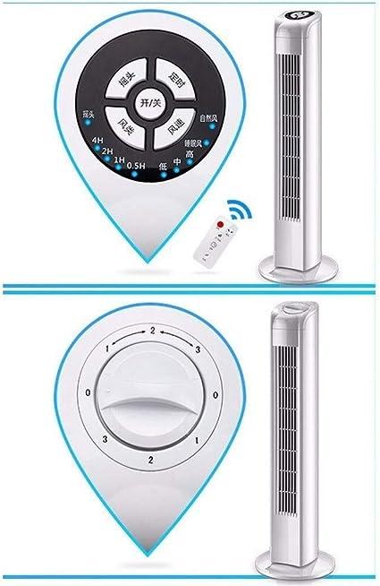 Yuzhonghua Aire Acondicionado Ventilador el/éctrico el hogar//Oficina de Control Remoto for Suelo de la Torre Ventilador sin Cuchilla silenciosa Vertical Fan una mec/ánica//B Control Remoto port/átil