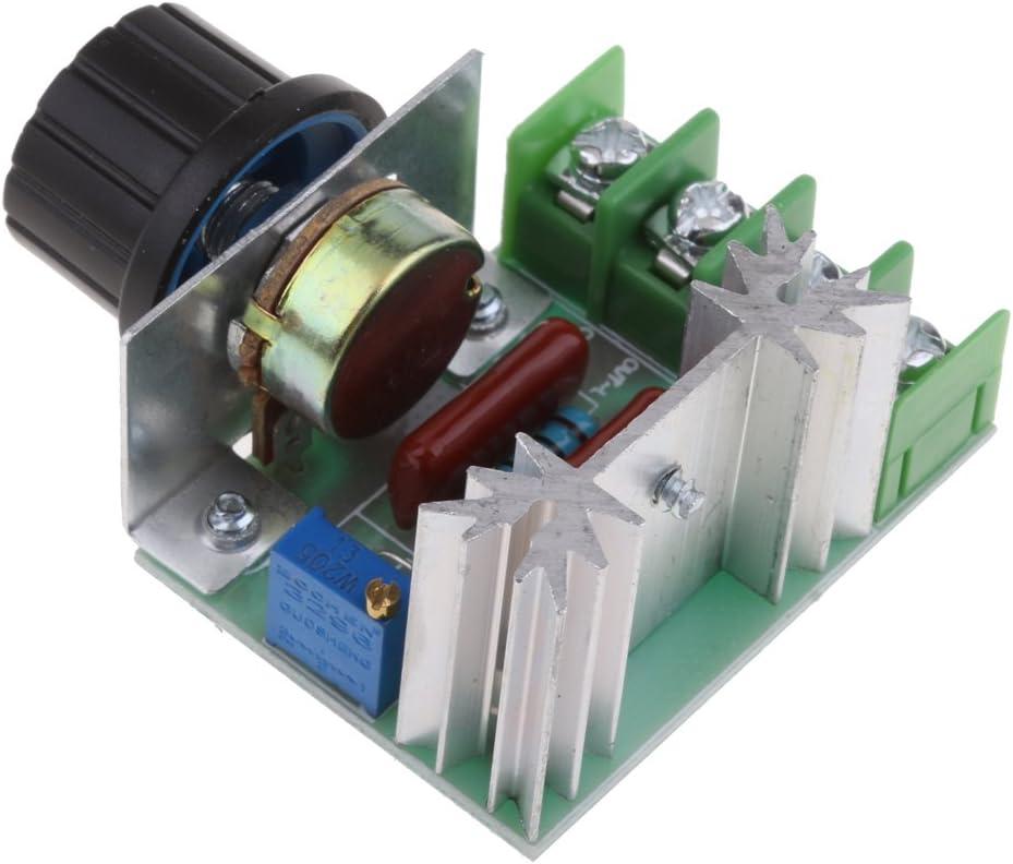 Sharplace 2000w Thyristor AC R/égulateur de tension R/églable Vitesse Moteur Contr/ôleur