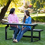 Lifetime 60253 Outdoor Convertible Bench, 55