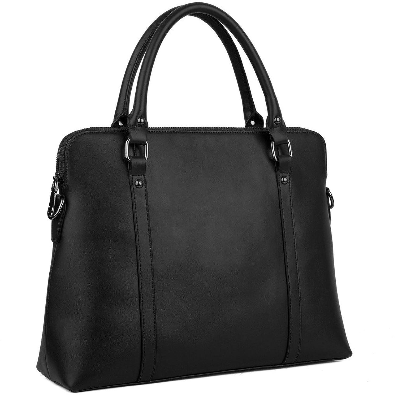BIG SALE- YALUXE Women's Simple Style Leather Work Tote Crossbody Shoulder Bag