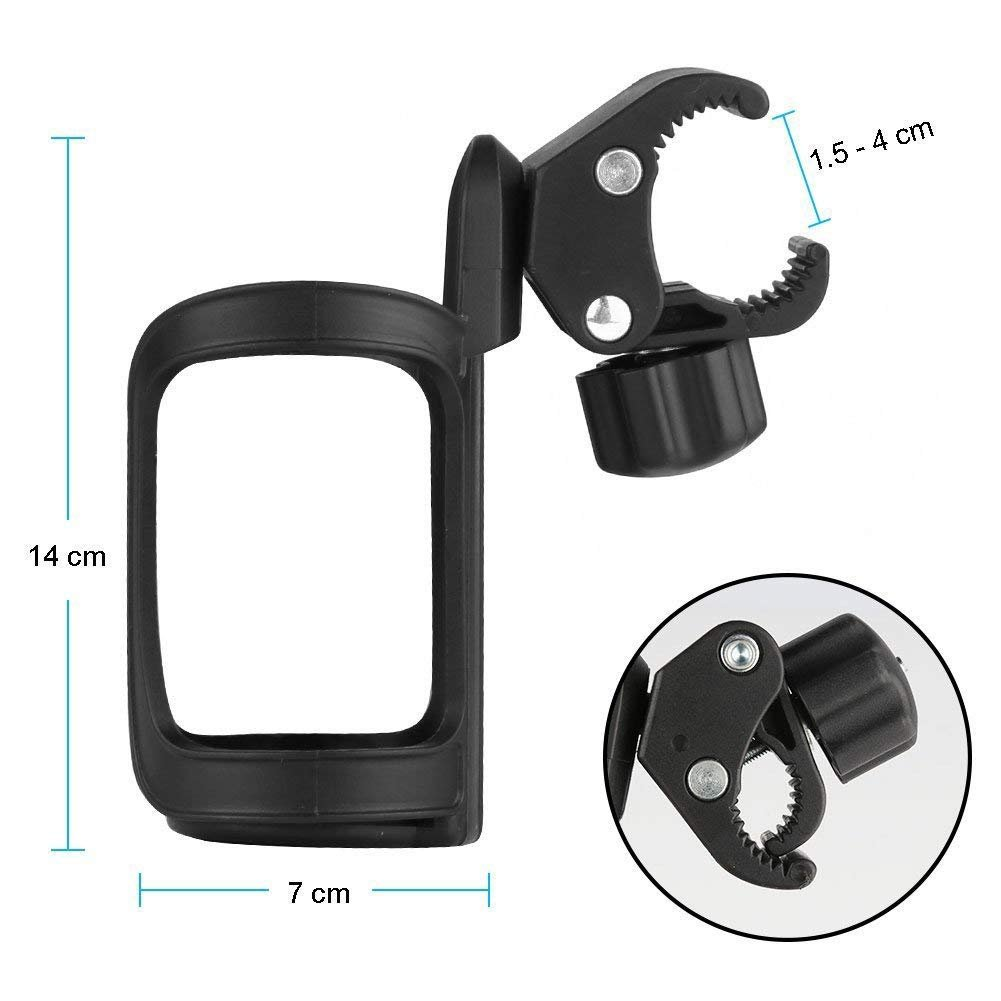 2 Packs Stroller Cup Holder 360 Degrees, Fanceeast Universal Bottle Drink Holders for Baby Pushchair Bicycle Bike Mountain Bike and Wheelchair by CapsBee (Image #2)