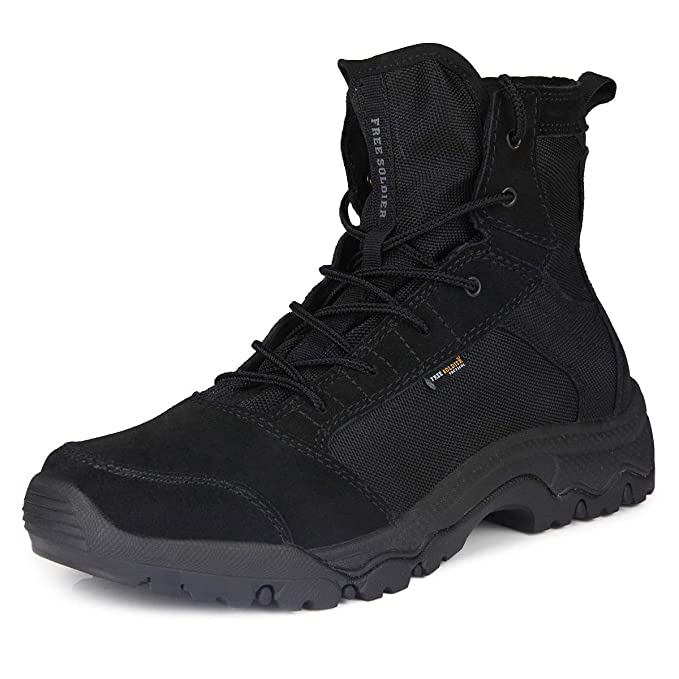 346ab2e8b9c FREE SOLDIER Men's Work Boots 6 inch Lightweight Breathable Military  Tactical Desert Boots for Hiking