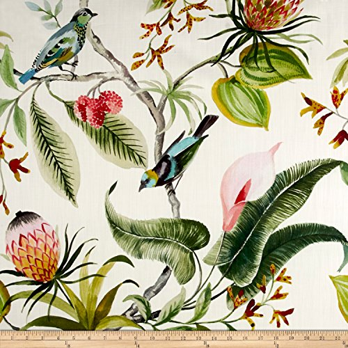 Floral Upholstery - Hamilton Fabric 0546411 Hamilton Paradise Leaf Fabric by The Yard,