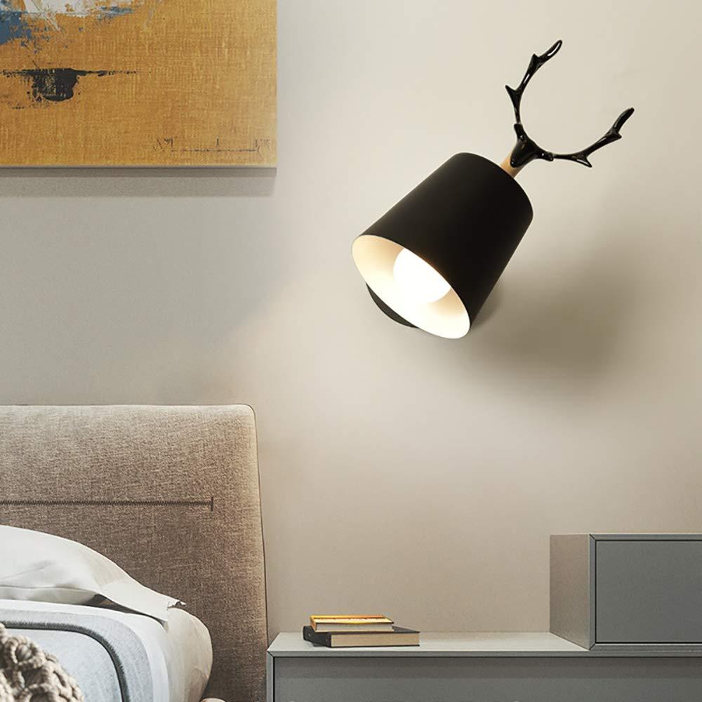 bianco Bagno E27 Metallo Lampada da Parete Moderne Lampada Muro Dipinta Applique da Parete Lampada Muro Perfetto per Camera da Letto Corridoio Soggiorno Scale