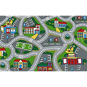 Lovely Learning Carpets City Life Play Carpet 5u0027 X 7u0027 New Kids Rugs Play  Time Kids Play