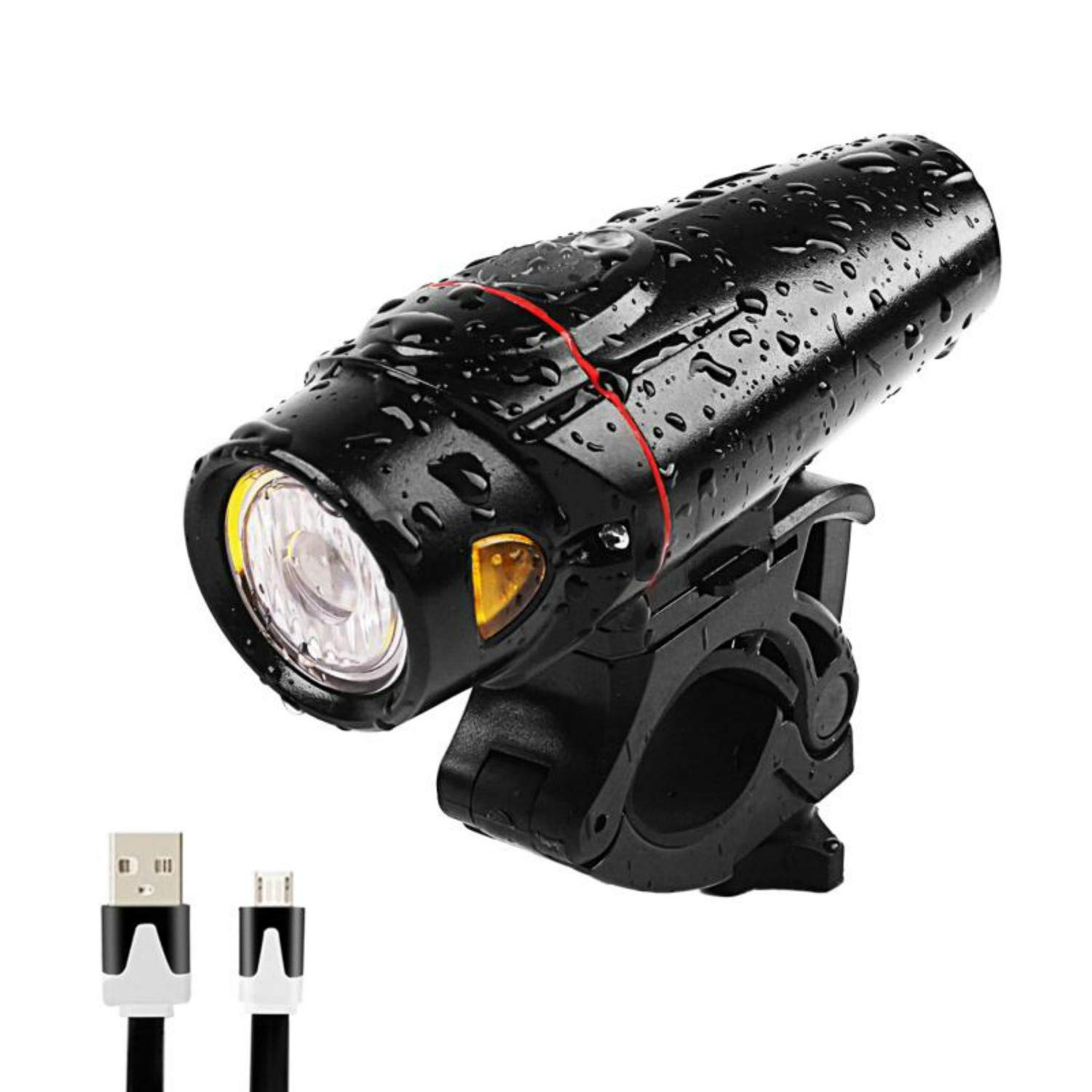 Yuwumin Smart Bike Light,USB Rechargeable Bicycle LED Lights,Super Bright Headlight Water Resistant,Easy Install and Quick Release for Commuter Road Cycling Safety Flashlight