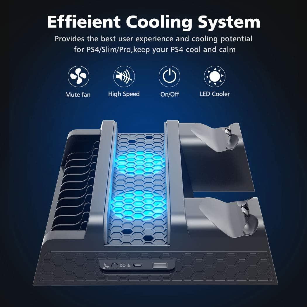 OIVO Ventilador de Refrigeración Compatible con Ps4/Ps4 Pro/Ps4 ...