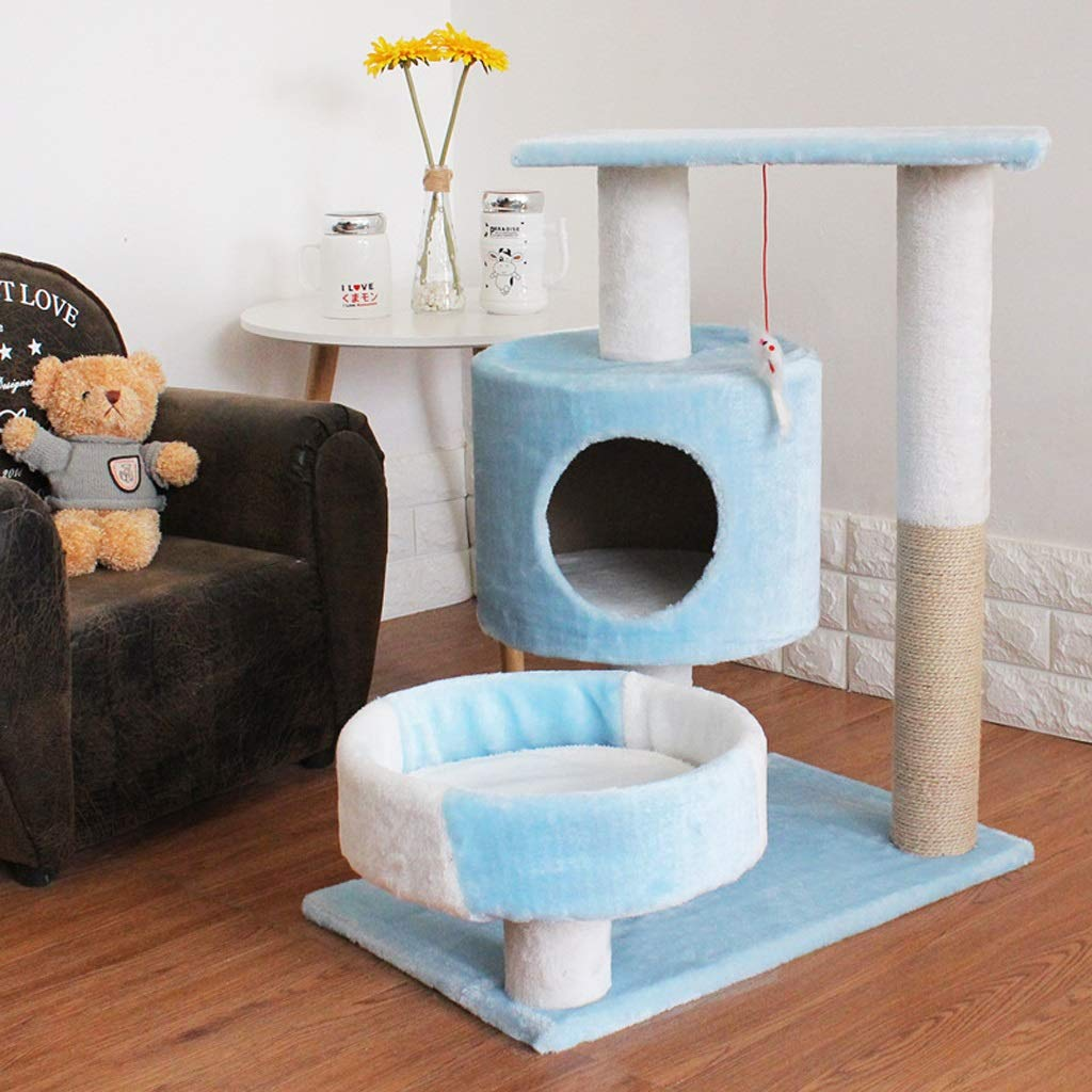 Nwn Pet Bed Cat Cat Cat Climbing Frame Quattro Stagioni Universal Dog House Cat lettiera Toy Sisal Piattaforma di Salto (colore   Blu) 70e879