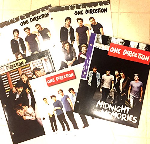 1d One Direction Collectable Folders 5 Piece Back to School (One Direction School Supplies)