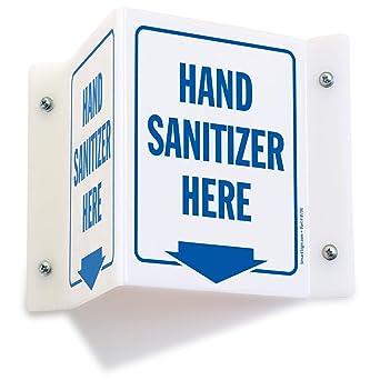 Amazon.com: Hand Sanitizer aquí (con flecha hacia abajo ...