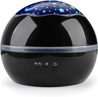 Lámpara de proyector Star Light Night,360 Grados Lámpara de ...