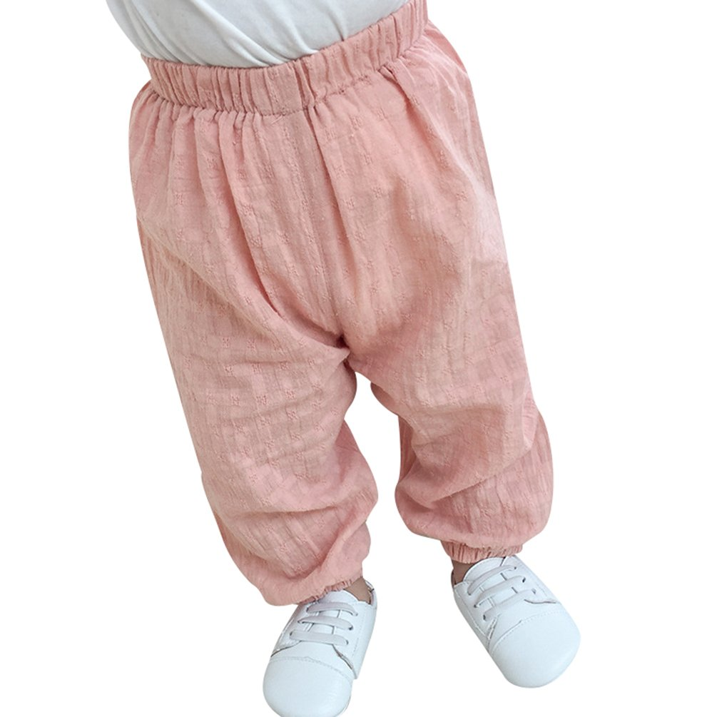 Byqny Casual Daily Loose Trousers for 1-3 Years Old Little Kid Baby Pants Boy Girl Lantern Mosquito Repellent Home Soft Pajamas Service